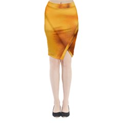 Blurred Glass Effect Midi Wrap Pencil Skirt