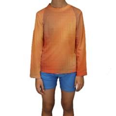 Bright Tech Background Kids  Long Sleeve Swimwear