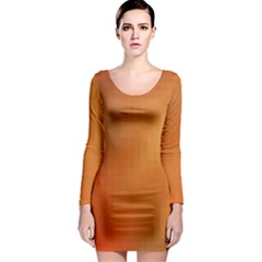 Bright Tech Background Long Sleeve Bodycon Dress