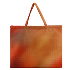 Bright Tech Background Zipper Large Tote Bag