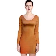 Bright Tech Background Long Sleeve Velvet Bodycon Dress