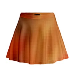 Bright Tech Background Mini Flare Skirt