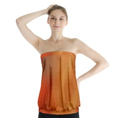 Bright Tech Background Strapless Top