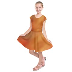 Bright Tech Background Kids  Short Sleeve Dress