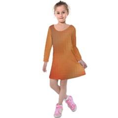 Bright Tech Background Kids  Long Sleeve Velvet Dress