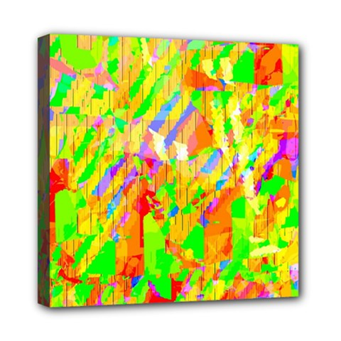 Cheerful Phantasmagoric Pattern Mini Canvas 8  X 8