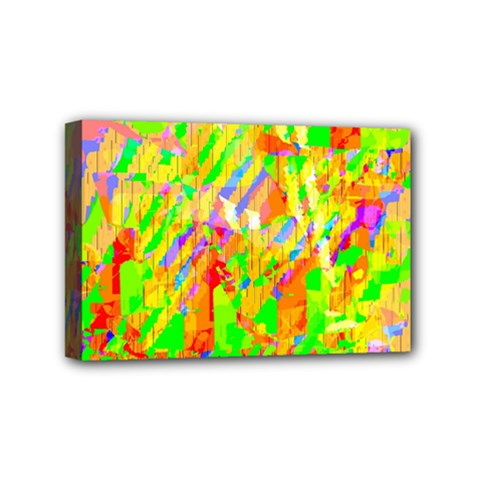 Cheerful Phantasmagoric Pattern Mini Canvas 6  X 4