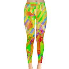 Cheerful Phantasmagoric Pattern Leggings