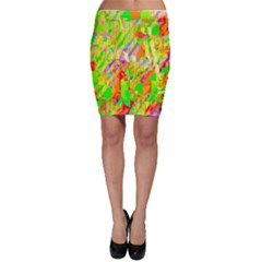 Cheerful Phantasmagoric Pattern Bodycon Skirt