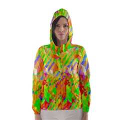 Cheerful Phantasmagoric Pattern Hooded Wind Breaker (women)