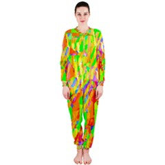 Cheerful Phantasmagoric Pattern Onepiece Jumpsuit (ladies)