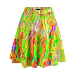 Cheerful Phantasmagoric Pattern High Waist Skirt
