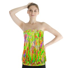 Cheerful Phantasmagoric Pattern Strapless Top