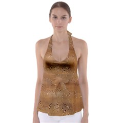 Circuit Board Babydoll Tankini Top