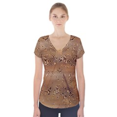 Circuit Board Short Sleeve Front Detail Top