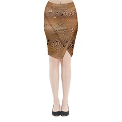 Circuit Board Midi Wrap Pencil Skirt