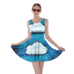 Circuit Computer Chip Cloud Security Skater Dress