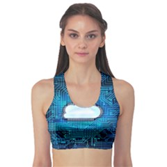 Circuit Computer Chip Cloud Security Sports Bra