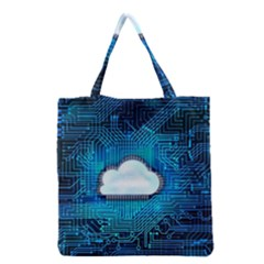 Circuit Computer Chip Cloud Security Grocery Tote Bag