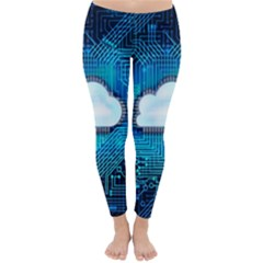 Circuit Computer Chip Cloud Security Classic Winter Leggings