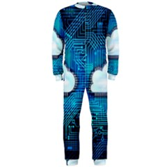 Circuit Computer Chip Cloud Security Onepiece Jumpsuit (men)