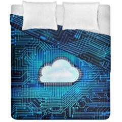 Circuit Computer Chip Cloud Security Duvet Cover Double Side (california King Size)