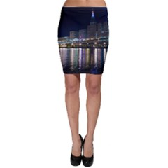 Cleveland Building City By Night Bodycon Skirt