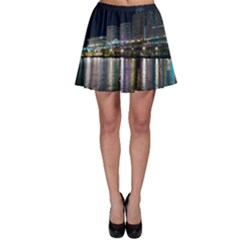 Cleveland Building City By Night Skater Skirt