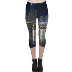 Cleveland Building City By Night Capri Leggings