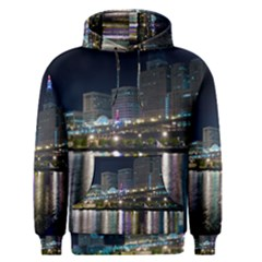 Cleveland Building City By Night Men s Pullover Hoodie