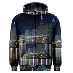 Cleveland Building City By Night Men s Zipper Hoodie