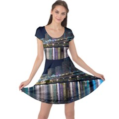 Cleveland Building City By Night Cap Sleeve Dresses