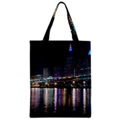 Cleveland Building City By Night Zipper Classic Tote Bag