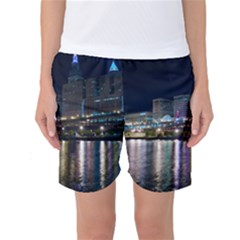 Cleveland Building City By Night Women s Basketball Shorts