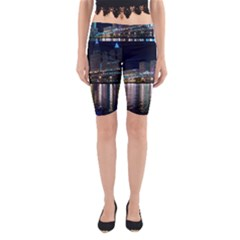 Cleveland Building City By Night Yoga Cropped Leggings