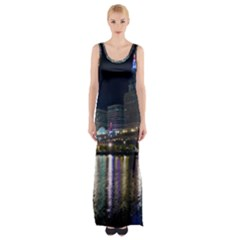 Cleveland Building City By Night Maxi Thigh Split Dress