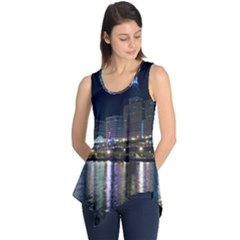 Cleveland Building City By Night Sleeveless Tunic