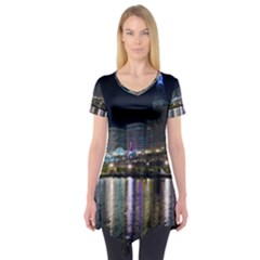 Cleveland Building City By Night Short Sleeve Tunic