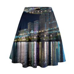 Cleveland Building City By Night High Waist Skirt