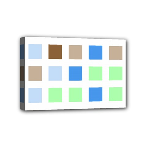 Colorful Green Background Tile Pattern Mini Canvas 6  X 4