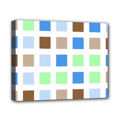 Colorful Green Background Tile Pattern Canvas 10  X 8