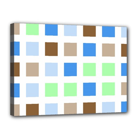Colorful Green Background Tile Pattern Canvas 16  X 12