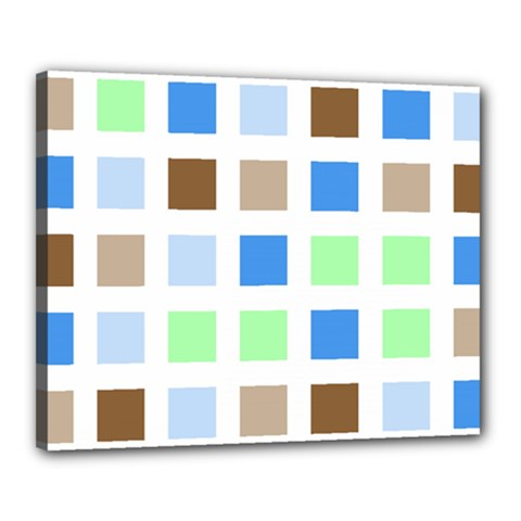 Colorful Green Background Tile Pattern Canvas 20  X 16