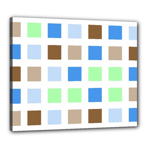 Colorful Green Background Tile Pattern Canvas 24  X 20