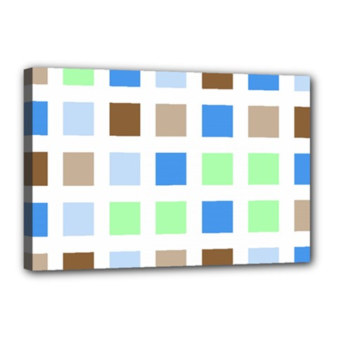Colorful Green Background Tile Pattern Canvas 18  X 12