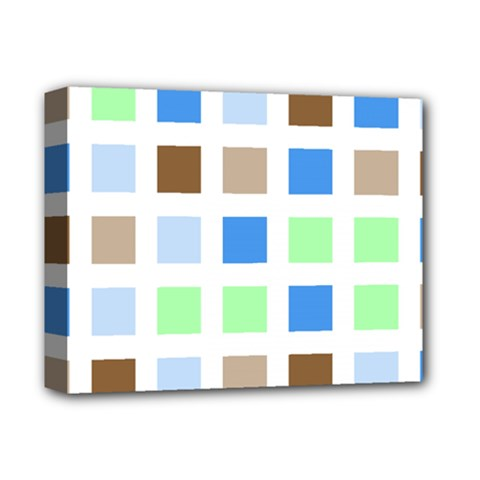 Colorful Green Background Tile Pattern Deluxe Canvas 14  X 11