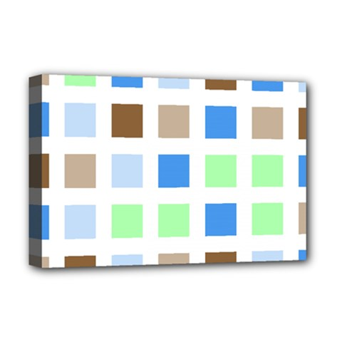 Colorful Green Background Tile Pattern Deluxe Canvas 18  X 12