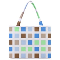 Colorful Green Background Tile Pattern Mini Tote Bag