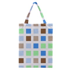 Colorful Green Background Tile Pattern Classic Tote Bag