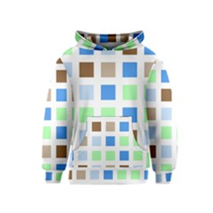 Colorful Green Background Tile Pattern Kids  Pullover Hoodie